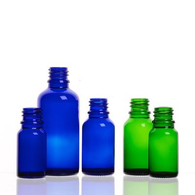 FLACON GOUTTE vert et bleu